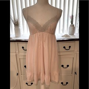 Victoria's Secret Pink lace Nightgown SMALL